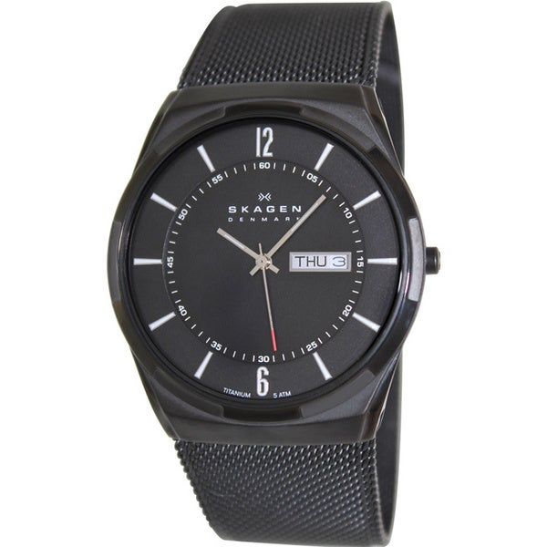 Skagen Men's Aktiv Black Stainless Steel Quartz Watch