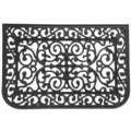 Rubber-Cal Liverpool Black Rubber/ Cast Iron Doormat (1'6 x 2'6)