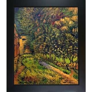 Vincent Van Gogh 'Asylum and Garden' Hand Painted Framed Canvas Art