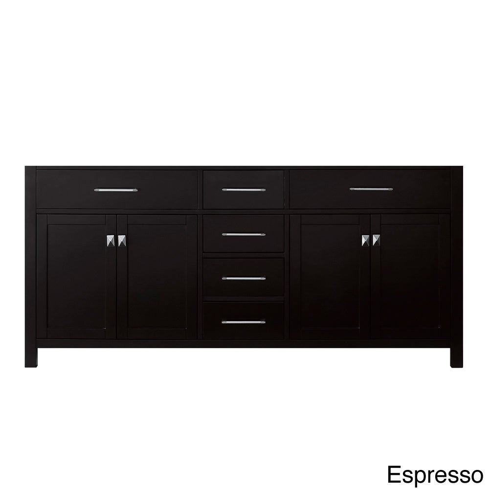 virtu usa caroline 72 inch double sink bathroom vanity cabinet