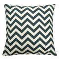 Teal and Ivory Chevron Throw Pillow