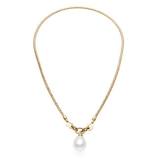 Tiffany & Co. 18k Yellow Gold FW Pearl Estate Necklace (14 mm)