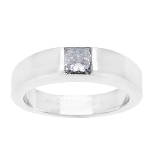 Cartier 18k White Gold 1/2ct TDW Diamond Tank Ring (D-F, VS)