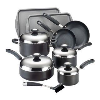 Circulon Total Hard Anodized Nonstick 13-piece Black Cookware Set