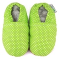 Green Polka Dot Soft Leather Sole Infant Shoes