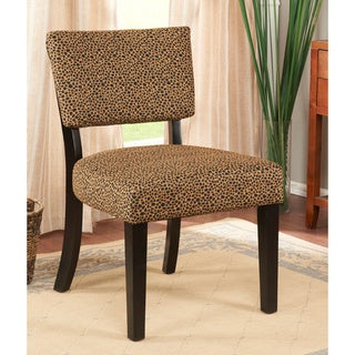K&B Leopard Print Accent Chair