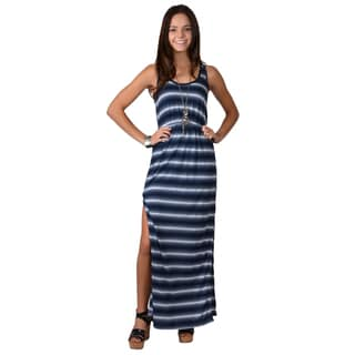 Journee Collection Junior's Striped Racerback Maxi Dress