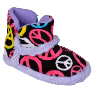 Journee Kid's 'Momo-peace' Peace Design Ankle Bootie Slipper