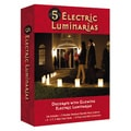 Electric Tan Kraft Paper Luminaries (Set of 5)