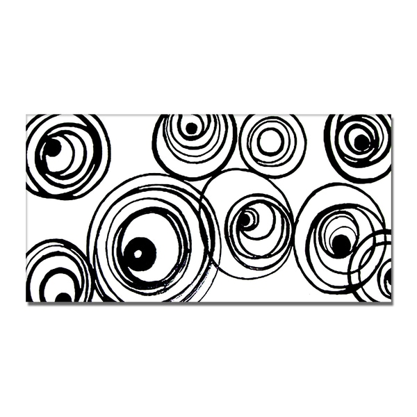 'Black & White Abstract' Hand Painted Canvas Art 11794774