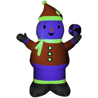 Inflatable Neon Snowman Decoration
