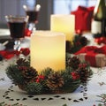 Order Home Collection 2-piece Holiday LED Candle and Wreath Set