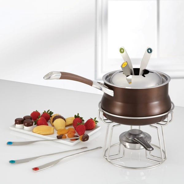 Circulon Symmetry Chocolate Hard-anodized Nonstick 3.25-quart Fondue Set