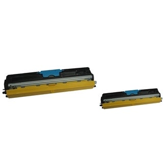 BasAcc Cyan Toner Cartridge Compatible with Okidata C110/ C130n (Pack of 2)