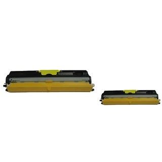 BasAcc Yellow Toner Cartridge Compatible with Okidata C110/ C130n (Pack of 2)