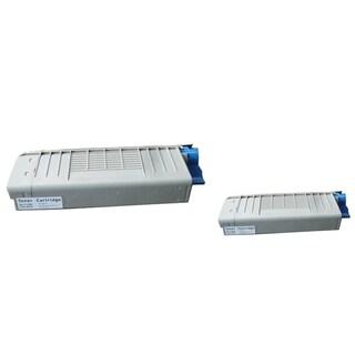 Insten Premium Black Color Toner Cartridge 43866104/ 44318604 for OKI C710/ C711