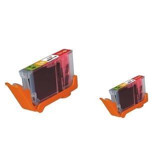 INSTEN Red Ink Cartridge for Canon CLI-8R (Pack of 2)