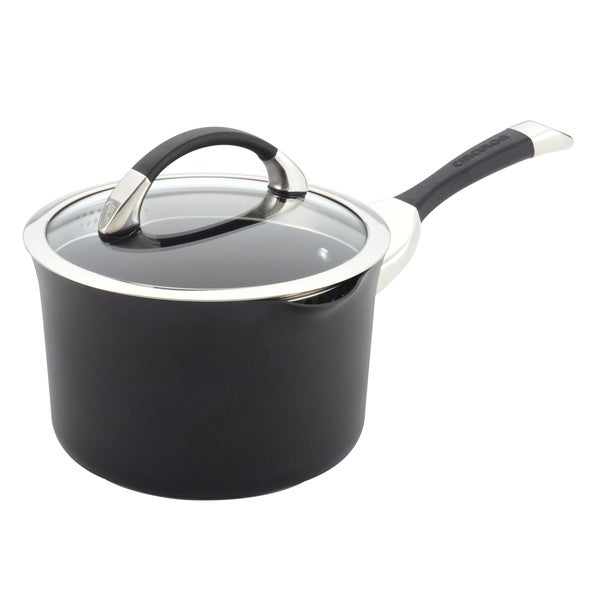 Circulon Symmetry Hard-anodized Nonstick 3.5-quart Straining Saucepan