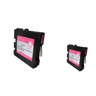 INSTEN Magenta Ink Cartridge for Ricoh GC21/ GC21HM (Pack of 2)