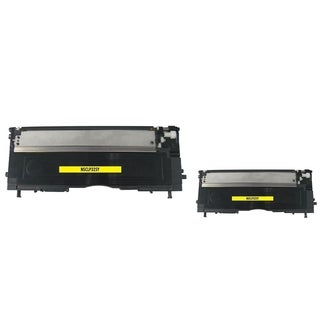 INSTEN Yellow Toner Cartridge for Samsung CLP-320/ 325 (Pack of 2)