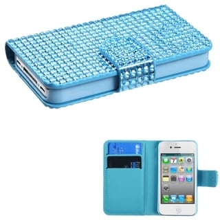 BasAcc Light Blue Book-style MyJacket Case for Apple iPhone 4/ 4S