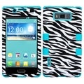 BasAcc Zebra Skin/ Teal TUFF Hybrid Case for LG US730/ Splendor