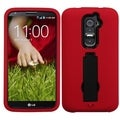BasAcc Black/ Red Case with Stand for LG D801 Optimus G2/ D800 G2
