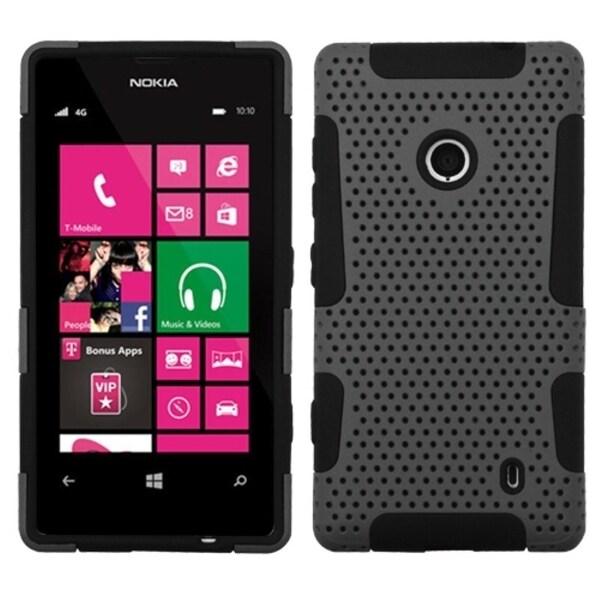 INSTEN Grey/ Black Astronoot Phone Case Cover for Nokia Lumia 520/ 521