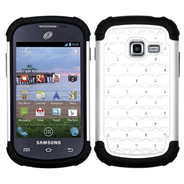 INSTEN White/ Black TotalDefense Phone Case Cover for Samsung S738C Galaxy Centura