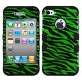 BasAcc Zebra Skin/ Black TUFF Case for Apple iPhone 4/ 4S