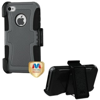 BasAcc Natural Grey/ Black Frosted Fusion Case for Apple iPhone 4/ 4S