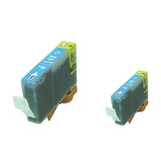 INSTEN 2-ink Cyan Cartridge Set for Canon BCI-5/ 6PC