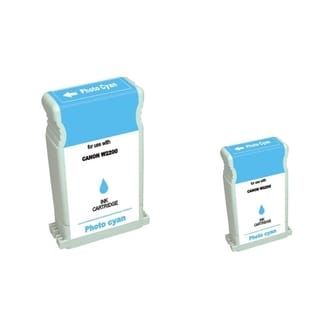 BasAcc 2-ink Cyan Cartridge Set Compatible with Canon BCI-1302PC
