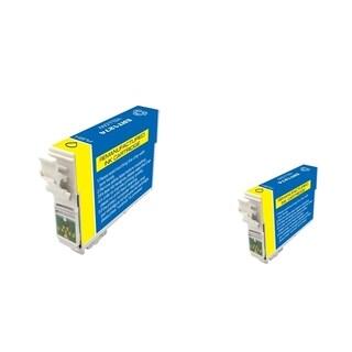 INSTEN Epson T127420 2-ink Yellow Cartridge Set (Remanufactured)