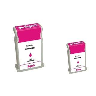 BasAcc 2-ink Magenta Cartridge Set Compatible with Canon BCI-1302M