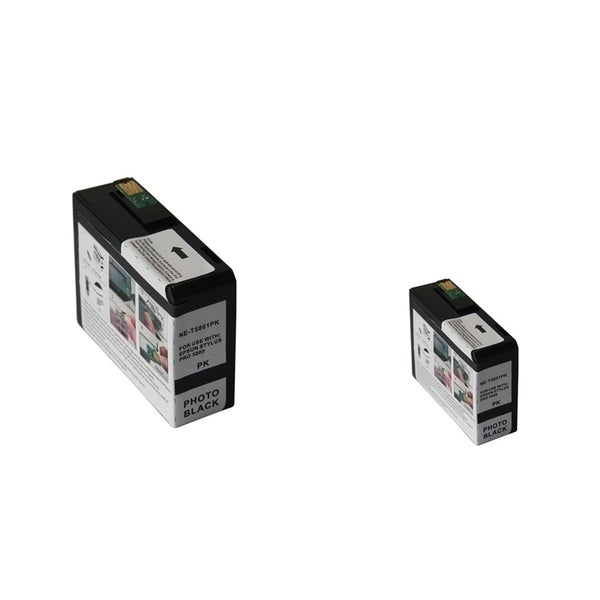 INSTEN Epson T5801PBK PBK 2-ink Photo Black Cartridge Set (Remanufactured)