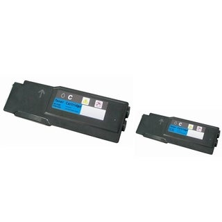 INSTEN 2-ink Cyan Cartridge Set for Dell 3760n/ 3760dn