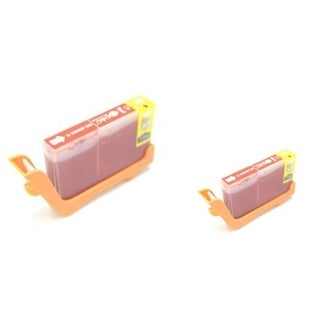 BasAcc 2-ink Red Cartridge Set Compatible with Canon BCI-6R