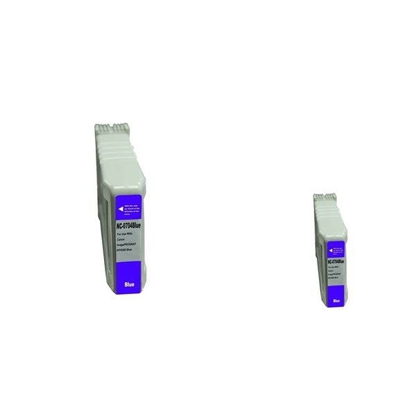 INSTEN 2-ink Blue Cartridge Set for Canon PFI-704