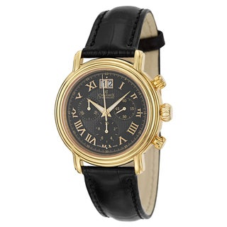 Charmex Men's 'Monaco' Yellow Goldplated Stainless Steel Chronograph Watch