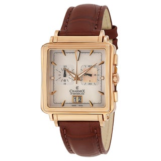Charmex Men's 'Le Mans' Rose Goldplated Steel Chronograph Watch