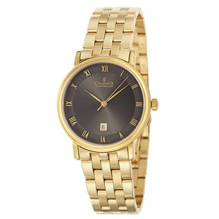 Charmex Men's 'Cologne' Yellow Gold PVD-coated Stainless Steel Watch