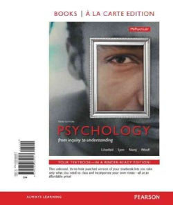 Psychology: From Inquiry to Understanding (Other book format)