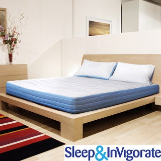 Sleep and Invigorate 8-inch Latex and Foam King-size Mattress