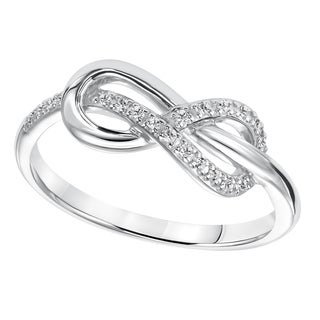 Cambridge Sterling Silver 1/10ct TDW Diamond Infinity Ring (I-J, I2-I3)