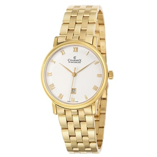 Charmex Men's 'Cologne' Yellow Gold PVD Coated Stainless Steel Watch