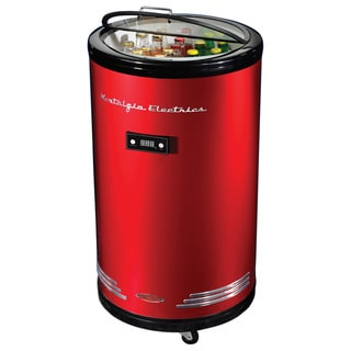 Nostalgia Electrics BPC700RETRORED Retro Series 60-can Party Cooler Fridge