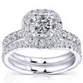 Annello 14k White Gold 1 3/4ct TDW Diamond Bridal Set (H-I, I1-I2)