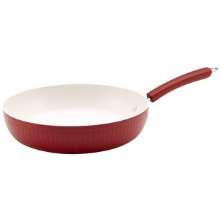 Paula Deen Savannah Collection Aluminum Nonstick 12-inch Red Skillet
