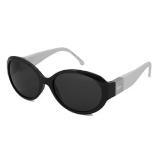 Lacoste Women's L509S Oval Black-White-and-Gray Sunglasses